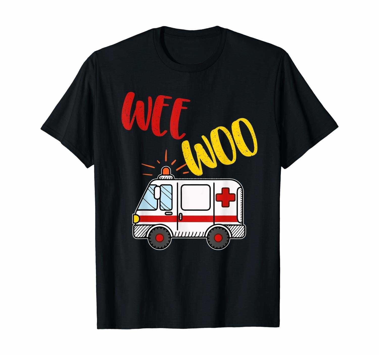 Wee Woo скорая Amr Смешные Ems Emt парамедик подарок футболка