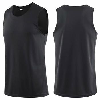 Męskie młodzieżowe koszulki koszykarskie azjatyckie rozmiary szybkie suche koszulki Running Slim dopasowane koszulki koszulki sportowe męskie t-shirty sportowe koszulka treningowa tanie i dobre opinie NoEnName_Null Poliester Bez rękawów Suknem Koszykówka Pasuje prawda na wymiar weź swój normalny rozmiar Oddychająca