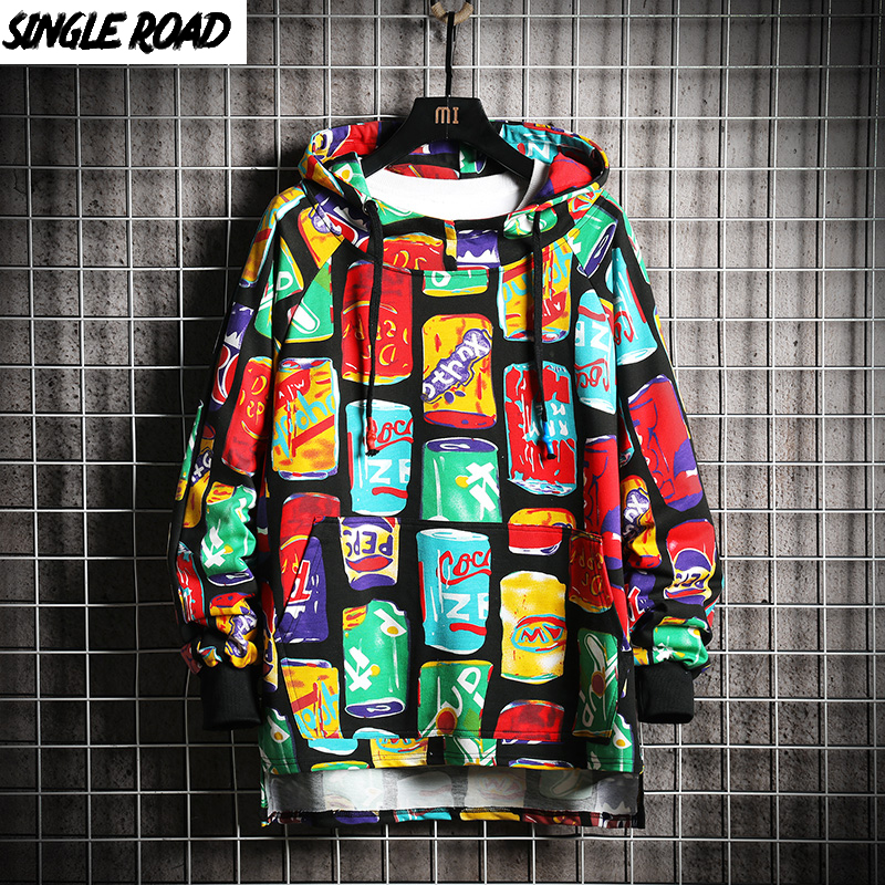 SingleRoad Men's Hoodies Men Oversized Spring Print Sweatshirts Harajuku Japanese Streetwear Hoodie Men Hip Hop Sweatshirt Male