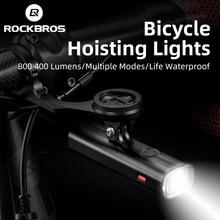 Rockbros Fiets Licht Hijsen Koplampen Multifunctionele Houder Krachtige Flash Light Usb Charing Led Fiets Front Light 4000Mah