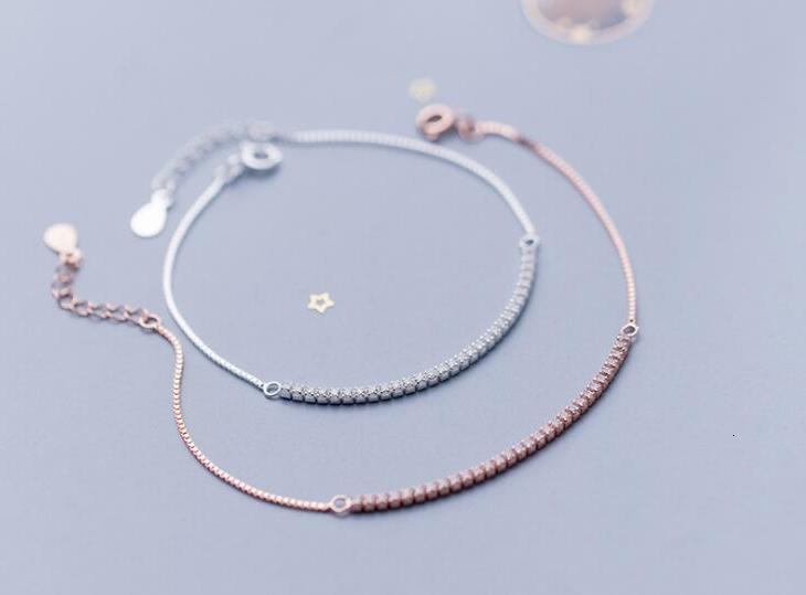 5.5MM 1PC Authentic REAL. 925 Sterling Silver WHITE/gOLDS Tennis Zirconia AAA+ Chain Bracelet GTLS877