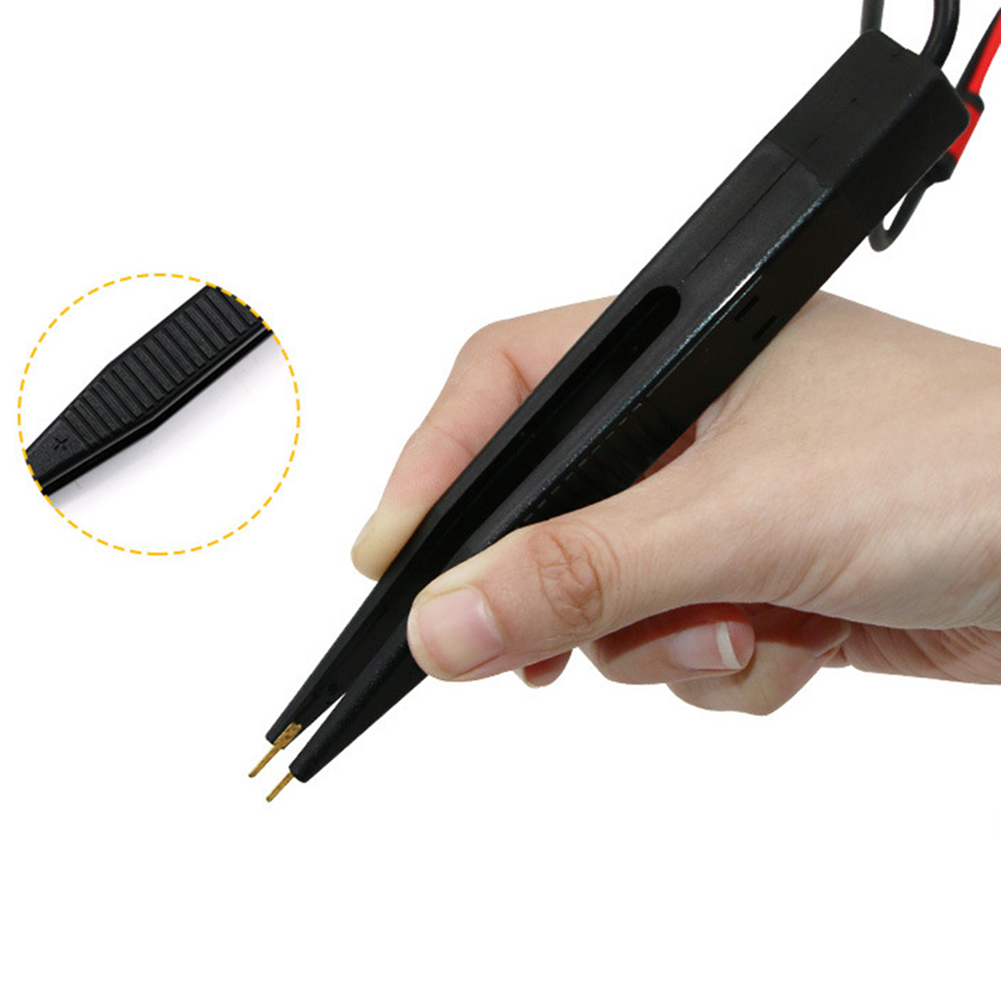 SMD Test Leads Chip Component LCR Testing Tool Multimeter Tester Clip Meter Pen Lead Probe Tweezers Capacitor Resistance