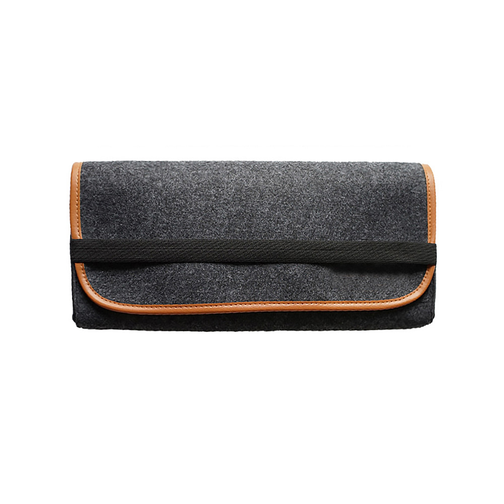 Durable Flip Cover Storage Elastic Band Felt Fabric Pouch Mechanical Keyboard Bag Practical Accessories Protective Dust Proof