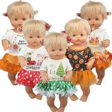 2020 adorável vestido de natal terno para 42 cm nenuco boneca 17 polegadas roupas boneca do bebê