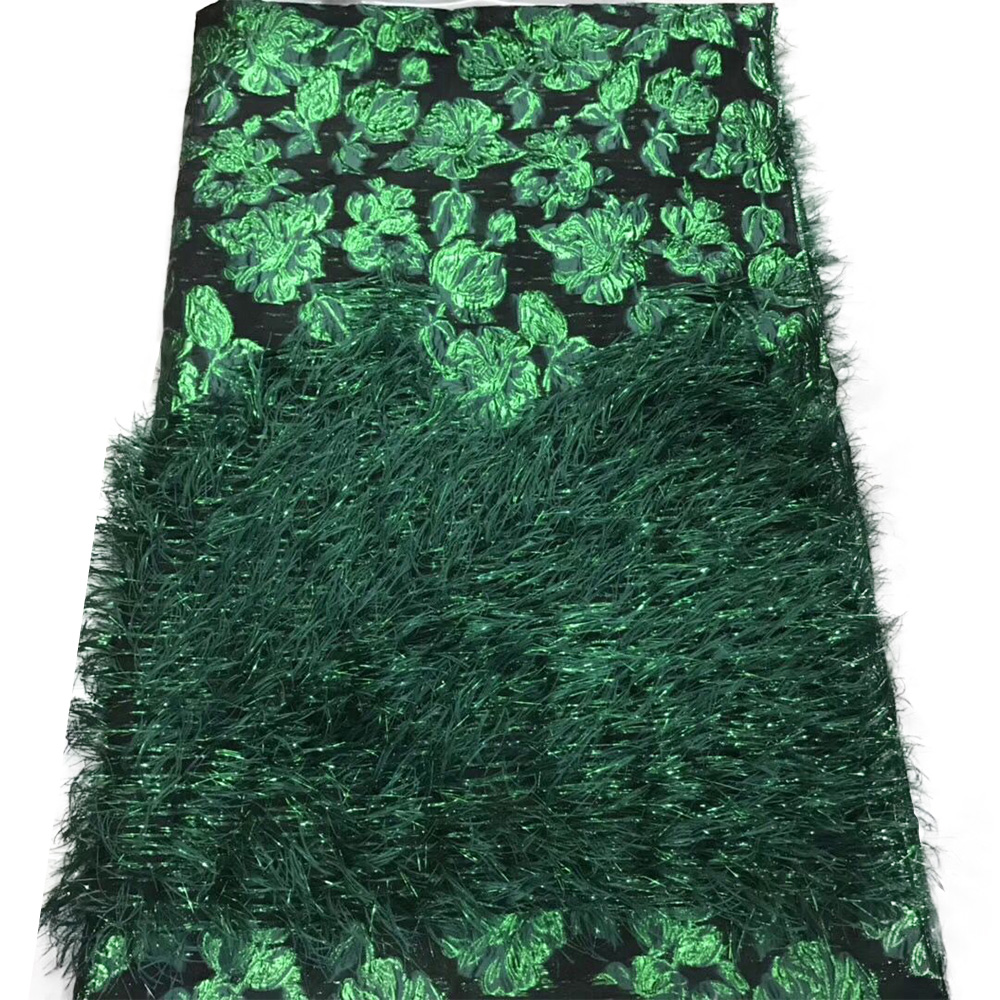 New Ankara Fabric Tulle 3D Tassels African Lace Fabrics For Dress Graduation Party Swiss Lace In Switzerland With Applique Purls