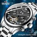 HAIQIN  деловые часы  мужские  военные  Tourbillon  автоматические  s часы  Топ бренд  Роскошные  механические  водонепроницаемые часы  Reloj Hombre