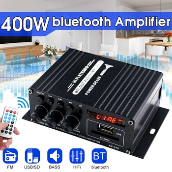 400W 2*200W Stereo Hifi Car Home Subwoofer car audio car Amplifier Amp Sound Speaker bluetooth EDR Audio LED Design amplifiers bluetooth 5 0 hifi power amplifiers stereo home audio digital sound amplifier with treble bass
