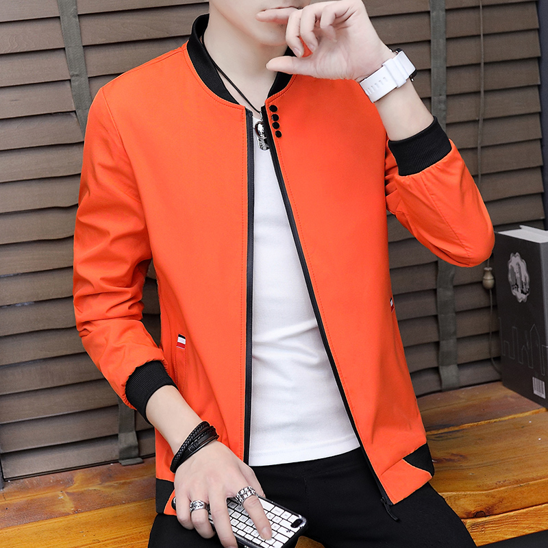 Autumn Cotton Jacket Men Slim Casual Baseball Jackets For Men Stand Collar With Zipper Coat Homme Fashion Men Clothing M-4XL