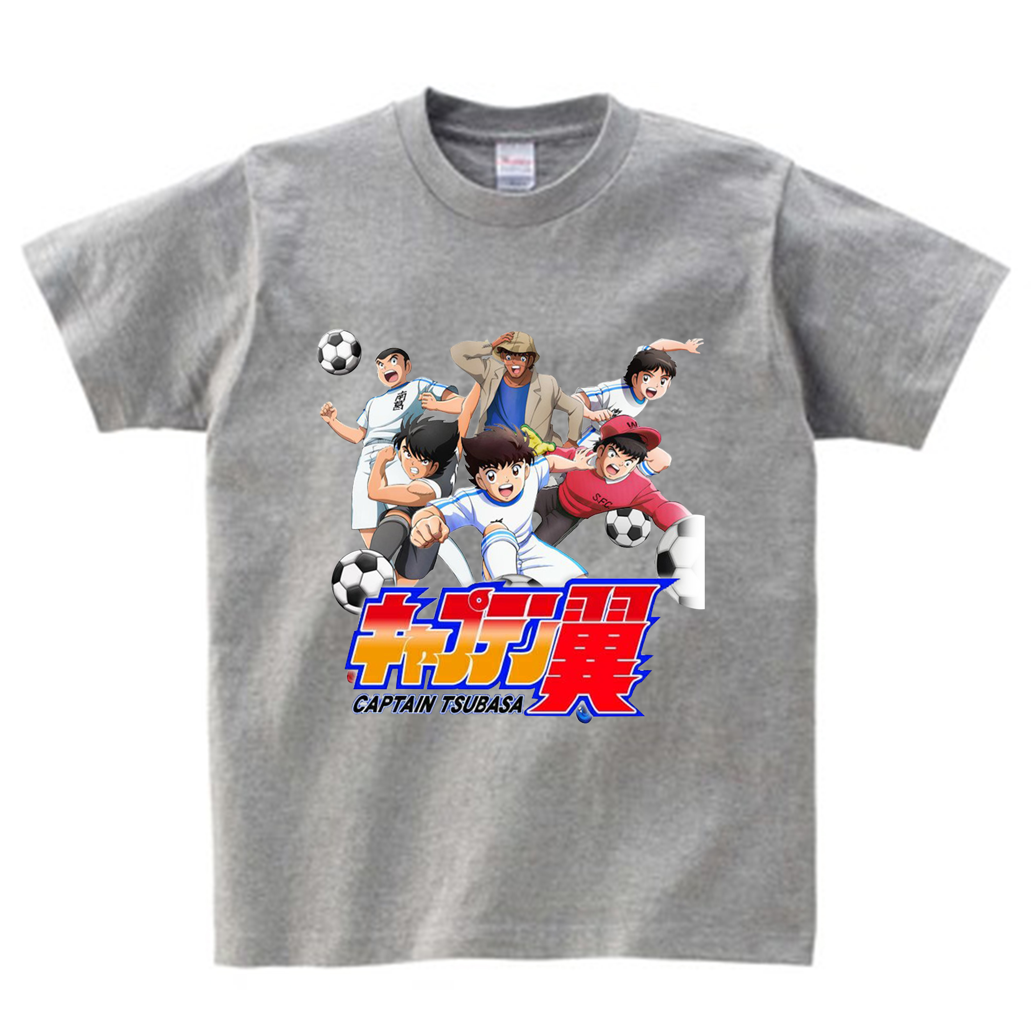 Anime Captain Tsubasa T Shirt Children Summer Leisure Short Sleeve t shirt Boy Football Motion T-shirts For Boys Girls Top 3T-9T 4