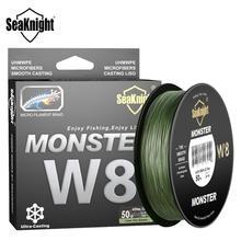 SeaKnight 500M / 546YDS MS Series W8เส้นตกปลาถัก8สานสายไฟSmooth PE Multifilament Lineสำหรับทะเลตกปลา20 100LB