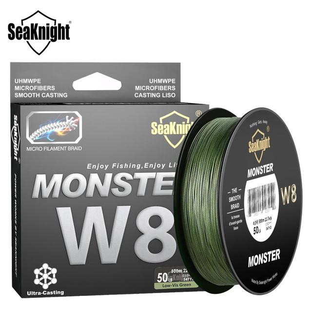 SeaKnight 500M / 546YDS MS Series W8 Braided Fishing Lines 8 Weaves Wire Smooth PE Multifilament Line for Sea Fishing 20 100LB