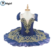 Court Ballet tutu navy blue professional nutcracker ballet cosutmes pancake child adult dance dressBT9067