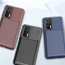 For Huawei P40 Case Business Style Silicon Rubber Shell Coque TPU Back Phone Cover For Huawei P40 Protective Case For Huawei P40 for cover huawei p40 case huawei p40 coque protective stylish smooth skin pc matte ultra thin phone case for huawei p40 cover