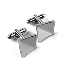 Square brushed mens glossy cufflinks fashion French shirt sleeves nails