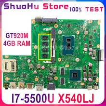KEFU X540LJ Für ASUS X540L X540LA F540L F540LJ Laptop Motherboard I7-5500U GT920M-2GB 4GB Getestet 100% arbeit original Mainboard