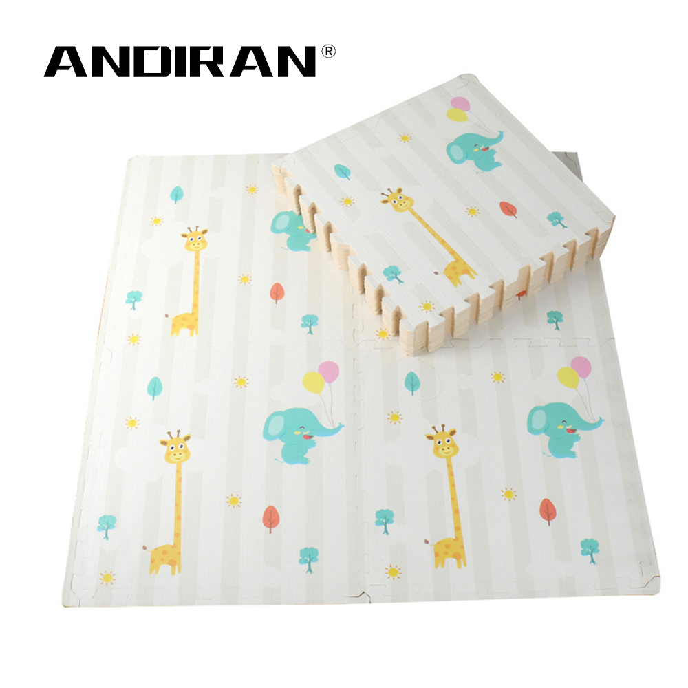 Puzzle Play Mat Baby Carpet EVA Spliced Floor Pad Cartoon Foam Pad Children's Baby Crawling Pad 60cm*60cm