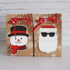 Image 5 - 8Pcsกระดาษคราฟท์กล่องกระดาษCandyของขวัญถุงChristmasของขวัญกล่อง 18.5*7*11.7 ซม.กล่องคริสต์มาสสำหรับคุกกี้Patyอุปกรณ์ตกแต่งบ้าน
