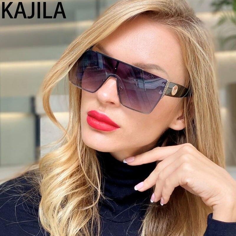 Oversized Sunglasses Women 2020 Trendy Shades Luxury Brand Sun Glasses For Woman Vintage Retro Eyewear Okulary Przeciwsloneczne