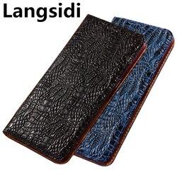 На Алиэкспресс купить чехол для смартфона luxury business style genuine leather magnetic flip case for oppo realme x2 pro/realme x2/realme xt/realme c2 phone bag funda