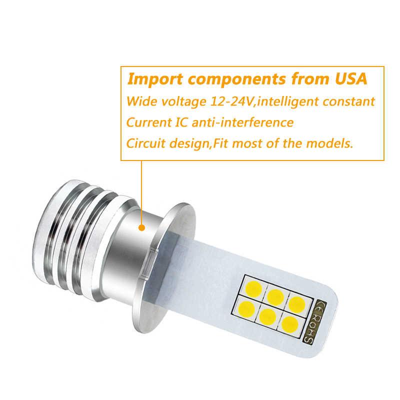 2x H3 LED Araba Işık Led Sis Işık Oto Araba Motor Kamyon 12w yüksek güç LED Ampuller Sürüş koşu DRL 12V 24V H1 Beyaz
