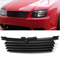 Hot Matte Black Car Front Hood Grille Badgeless Grill For VW /Jetta /Bora MK4 1999 2004