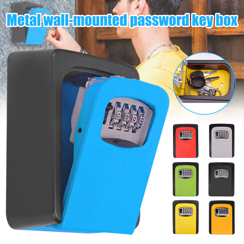Password Key Box Wall Mounted Security Anti-theft Outdoor Key Safe Lock Storage Box VDX99