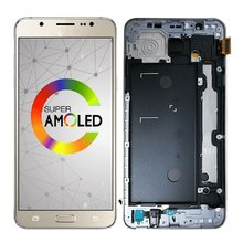 Super Amoled For Samsung Galaxy J7 2016 LCD Display Touch Screen Digitizer SM-J710F J710FN J710 J710M J710F/DS Adjust Brightness(China)