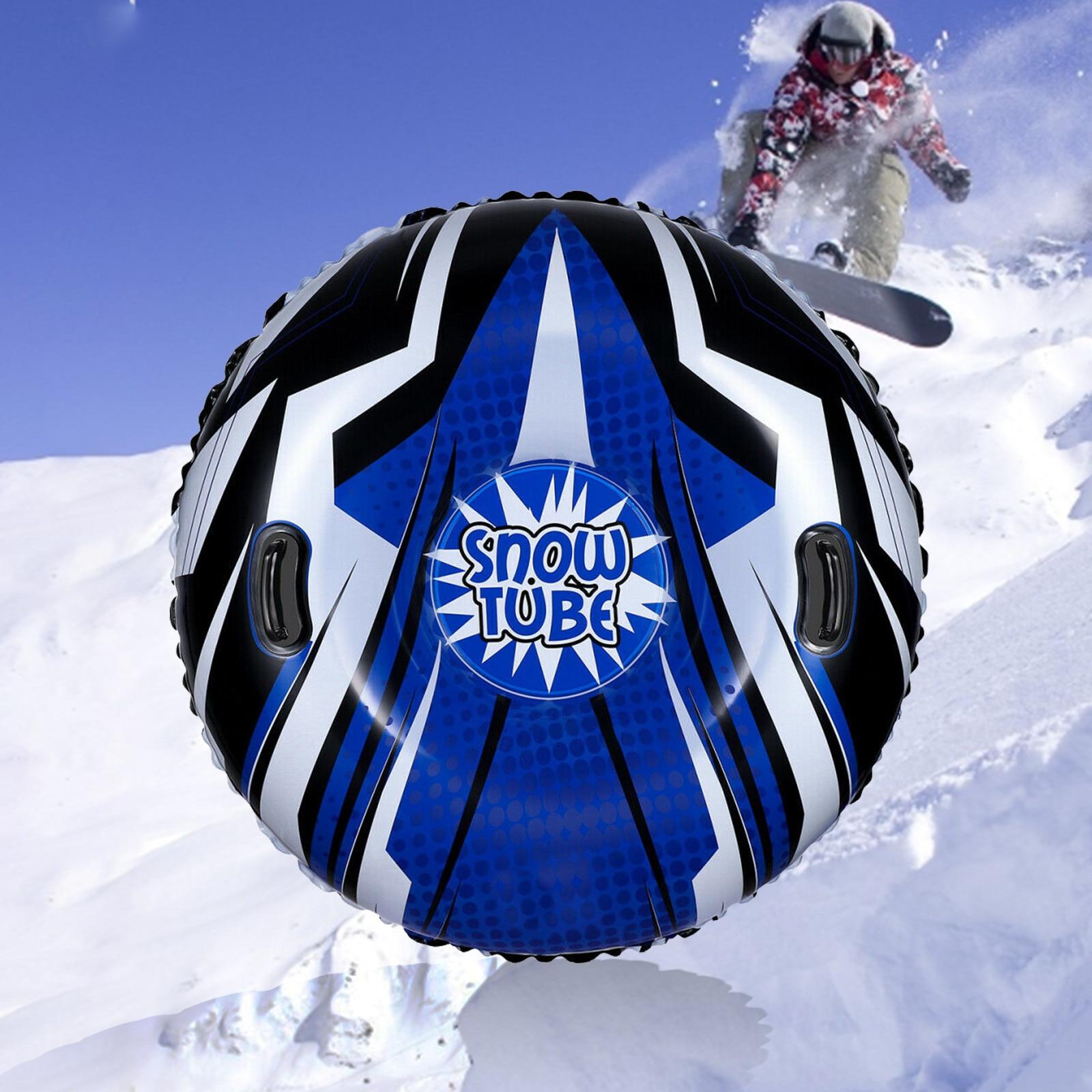 Cercle de Ski de planche de Ski flottant avec poignée gonflable Durable en plein air enfants adultes Ski de neige épaissi jouets de traîneau flottant