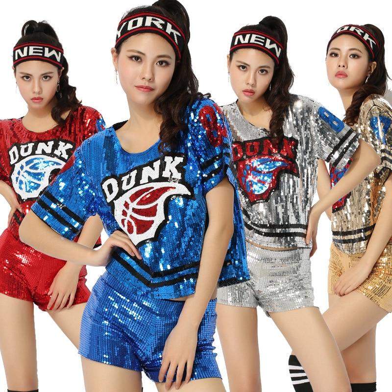 New Hoy Sexy Women Hip Hop Clothing Football Girl Cheerleading Uniforms Performance Costume