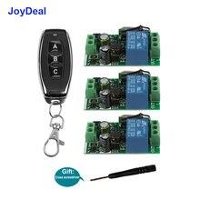JoyDeal – Module de commutateur récepteur universel, télécommande intelligente sans fil 433MHz AC 110V 220V 1CH et émetteur RF pour lumières