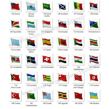 National Flag Metal Lapel Pin Flag Pin Badge All Over the World Scotland Serbia Slovakia Slovenia Spain Sweden Turkey  USSR estonia estonian country metal flag lapel pin badge hat lapel pin tie clothes push flag w butterfly clip