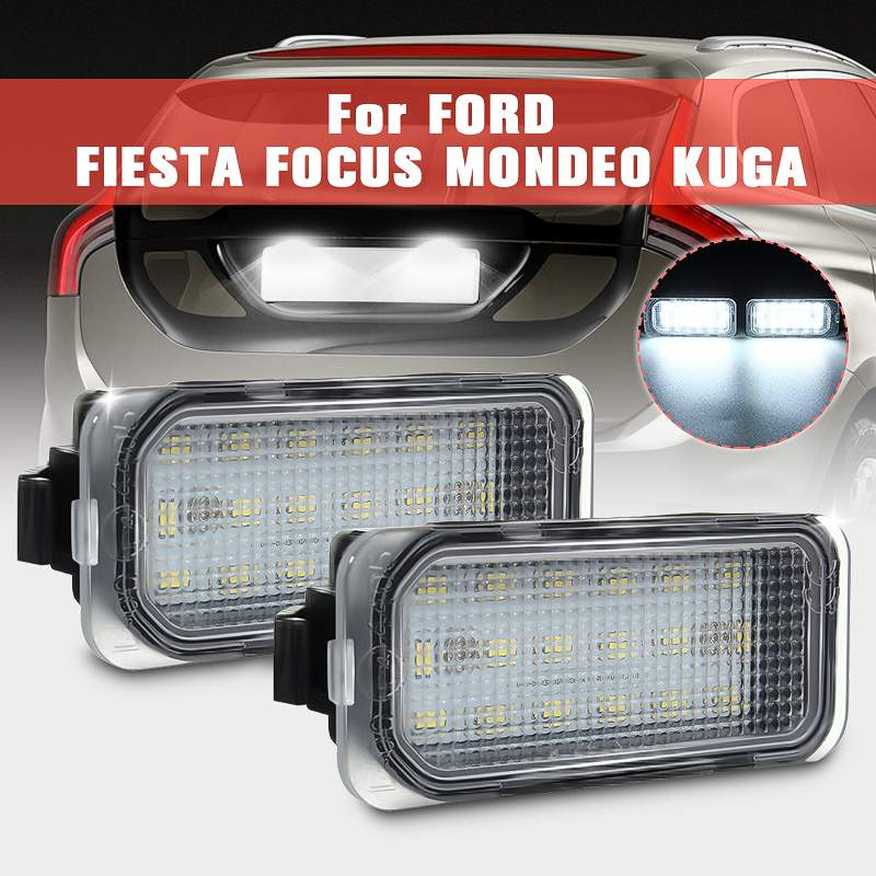 LED Licence Number Plate Light No Error For Ford Fiesta Focus C-Max Kuga Mondeo
