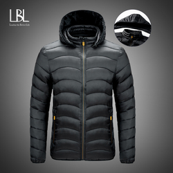 Parka Men Coats 2020 Winter Cotton Jacket Men Thicken Hooded Waterproof Outwear Warm Coat Windproof Parka Casual Men's Overcoat