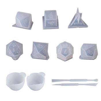 Molde de dado de triángulo cuadrado, juego Digital de dados, molde de silicona
