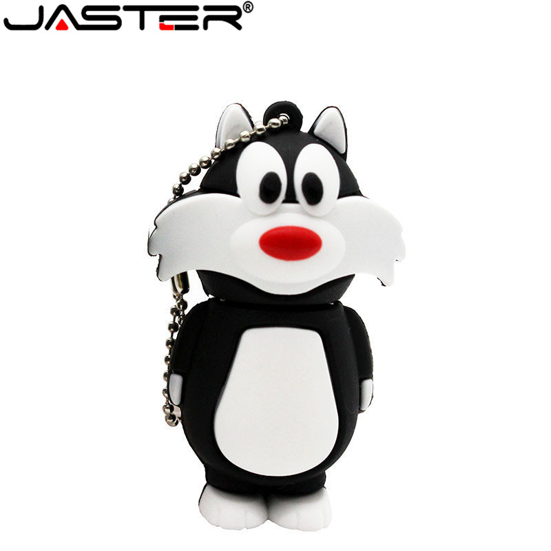 JASTER Cute 3 Colors Cat Pen Drive Tom Usb Flash Drive 4GB 8GB 16GB 32GB 64GB Cartoon  Gift Animal Cartoon Memory Stick U Disk