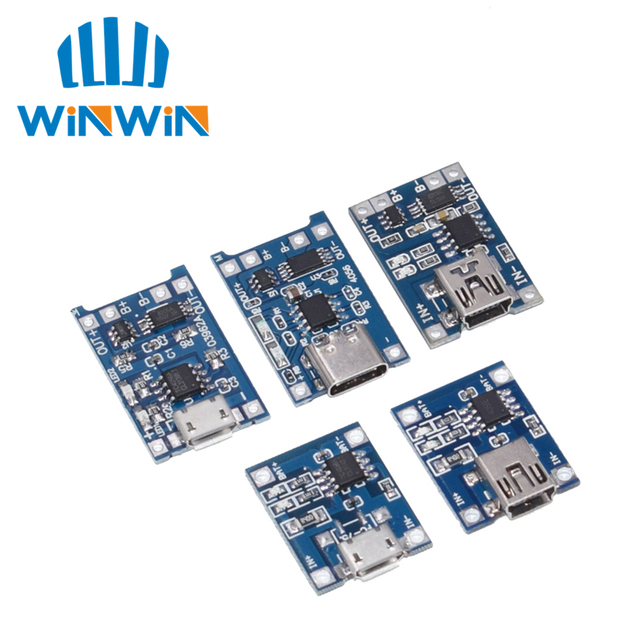 100 個マイクロ usb 5 v 1A 18650 TP4056 リチウムバッテリー充電器モジュール充電ボード保護デュアル機能 1A リチウムイオン