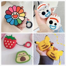 3D Earphone Case For Airpods Pro Case Silicone Bear Rabbit Pig Cartoon Headphone/Earpods