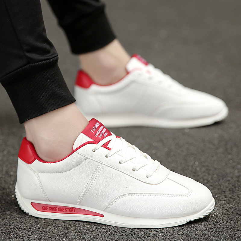 Sneakers Rubber-Sole Casual-Shoes Non-Slip Outdoor Lace-Up Light-Weight Breathable Men's