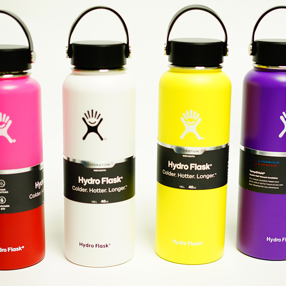 Best Stainless Steel Water Bottle Hydro Flask 18oz/32 oz/40 oz Water Bottle Vacuum Insulated Wide Mouth Travel hydroflask Bottle