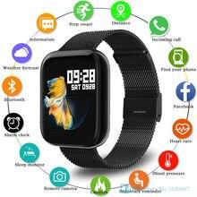 P80 akıllı saat 2021 erkekler kadınlar Smartwatch spor izci spor su geçirmez Wateches Android IOS için dijital elektronik saat
