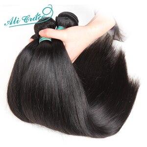 Image 2 - Ali Grace pasma prostych włosów z zamknięciem 4x4 zamknięcie z wiązkami brazylijski 28 cali wiązki ludzkich włosów z HD zamknięcie koronki