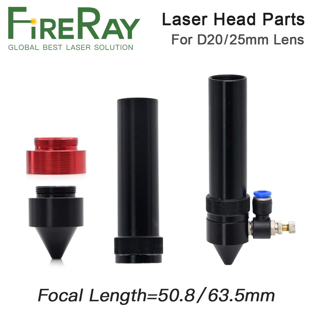 Fireray Co2 Lens Tube Outer For Lens Dia.20 25mm FL 50.8 63.5mm Engraving Nozzle For Laser Head At CO2 Laser Cutting Machine