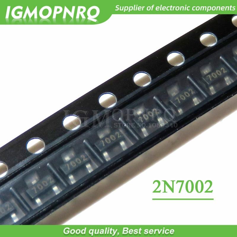 100PCS 2N7002 MOSFET N-CH 60V 300MA SOT-23 N-channel FET New Original Free Shipping
