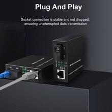3KM/20KM Gigabit מדיה ממיר סיבים אופטי כדי Rj45 אחת מצב יחיד Fibra אופטיקה Ethernet מתג משדר 10/100/1000M SM