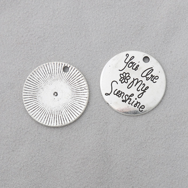silver tone Heart charm pendants 16x15mm 20pcs Favorite Teacher Charms