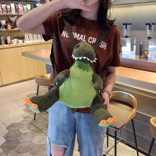 2019 new dinosaur backpack children cute cartoon plush fashion small childrens gift
