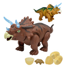 FBIL-Electric Walking Lay Eggs Dinosaur Remote Control Electronic Robot with Lig