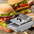 220 В маленькое устройство для приготовления бургеров из нержавеющей стали  коммерческий двойной алюминиевый Электрический бургер  куриный ...