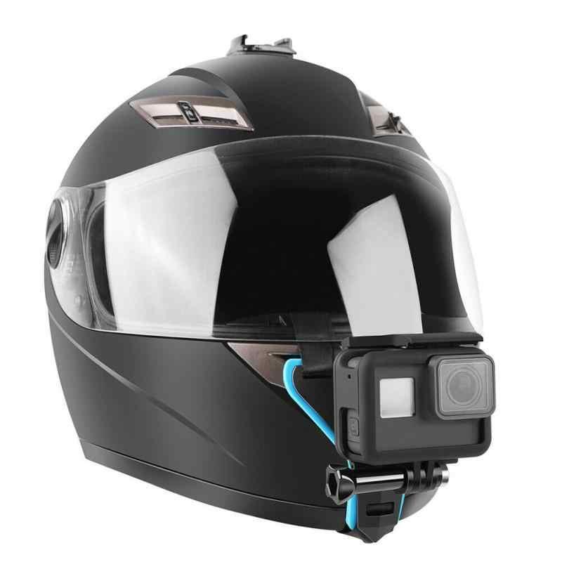 Kask fullface uchwyt do mocowania podbródka kask motocyklowy uchwyt stojak akcesoria do aparatu do Go Pro Hero 8 6 5 SJCAM