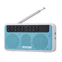 Rolton E500 Đài FM 6W Loa Bluetooth Không Dây Di Động Kỹ Thuật Số FM Đài Phát Thanh Hifi Stereo TF Nghe Nhạc Có Đèn LED màn Hình Hiển Thị Mic